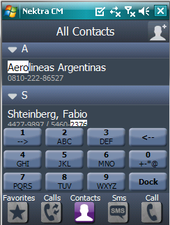 Nektra Contact Manager - All contacts screenshot