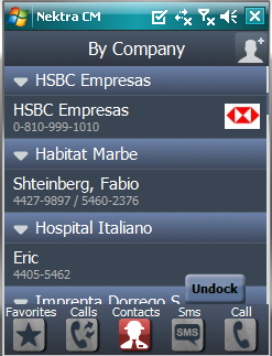Nektra Contact Manager - Group by company screenshot